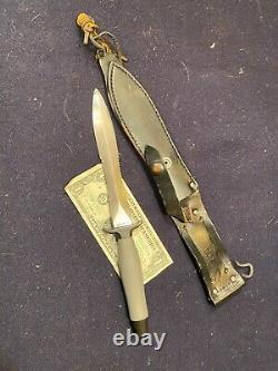 1975/76 Gerber Mk2 Mk II Mark 2 Poignard De Sauvetage Aérien Combat Fighting Knife 53637