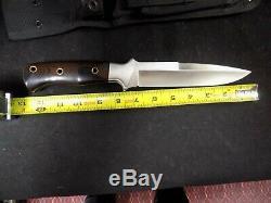 1980 Al Mar Modèle 3005,6 Sere Fighting Couteau Dague Micarta Poignée Pristine Co
