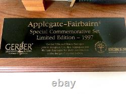 1997 Boker Gerber Applegate Fairbairn Limited Edition Damascus Knife Set