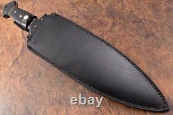 21.4 Ozair Custom D2 Steel Black Enduit Bête Smatchet Dagger Couteau Lame 8125