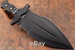 21.4ozair Sur Mesure D2 Acier Revêtue En Noir Dague Lame Full Tang Beast Couteau 7037