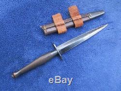 2ème Origine Britannique Modèle Fairbairn Sykes Dagger Fighting Couteau Et Gaine
