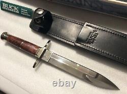 #94/100 Custom U. S. A. Buck Burl Wood Dagger (couteau) B876-sp-0. 12/15/04 Sticker