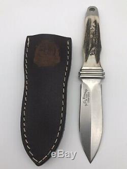 Ag Russell 50 Ans Sting 3 Cerf Boot Couteau En Acier 440c Poignard De 1 200 Avec La Gaine