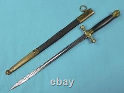 Allemagne Allemande Solingen Ww1 Antique Cadet's Dagger Fighting Knife Scabbard
