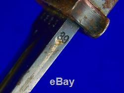 Allemand Allemagne Ww2 Mauser K98 Baïonnette Fighting Couteau Dague Fourreau # Matching