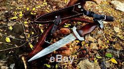 Allemand Ss Dagger Damas Lame En Acier Couteau À La Main Personnalisée Avec Manche En Bois Rose Arc