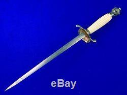 Américain Vintage Sur Mesure Guerre Civile Milice Épée Stiletto Fighting Couteau Dague
