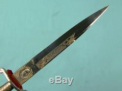 Amérique Du Sud Allemand Hidalgo Dagger Made Solingen Se Battre Couteau Gentleman