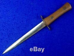 Anglais Britannique Première Guerre Mondiale Ww1 Stiletto Fighting Couteau Dague Avec Gaine