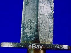 Anglais Britannique Ww2 Wilkinson Fairbairn Sykes 2 Type Nommé Fighting Knife Dagger