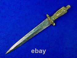 Antique 18 Siècle France Français Anglais Britannique Figural Fighting Couteau Dague