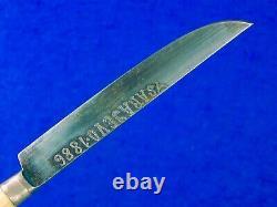 Antique 19 Century 1886 Daté Bosniaque Bosnie Poignard Couteau De Combat Avec Scabbard