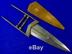 Antique 19 Siècle Indien Inde Katar Ciseaux Gravé Fighting Couteau Dague