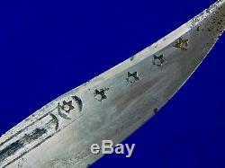 Antique 19 Siècle Moyen-orient Turc Dagger Fighting Couteau Fourreau