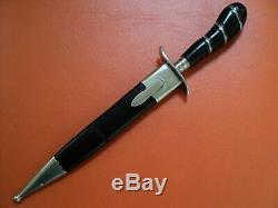Antique Couteau Poignard Allemand Herder Abr Sohn 1920 Solingen Avant La Guerre Ww2 Excellente