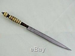 Antique Fighting Bresilien Couteau Poignard Blade Amérique Du Sud Fine Épée Qualité