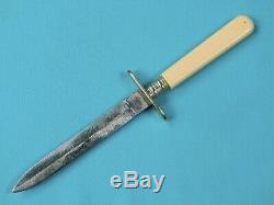 Antique Vieil Anglais Britannique Sheffield Petite Dame Couteau Fighting Dagger