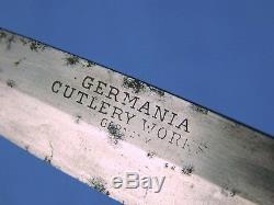 Antique Vieux Allemagne Allemand En Argent Sterling Boot Fighting Couteau Dague