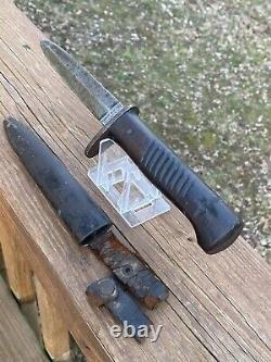 Antique Ww1 Ernst Busch Allemand Trench Fighting Knife Dagger Solingen Rare Nr