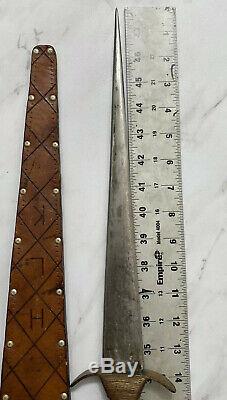 Antique Ww2 Era Anglais Britannique Fighting Couteau Dague