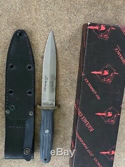 Applegate Fairbairn Blackjack Couteau Étui En Cuir Effingham USA A2 Acier Outil
