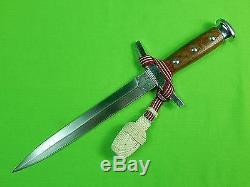 Armée Vintage Suisse Suisse Robe Dagger Se Battre Couteau & Fourreau Knot