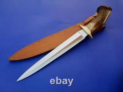 Beautiful Vintage Jimmy Lile Arkansas Maker Custom Toothpick Knife, Crown Stag