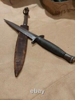 Black Devil Canada-usa Style Moderne De La Seconde Guerre Mondiale Commando Poignard Couteau Des Années 1970 Ww2