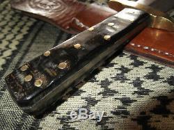Buffalo Vintage Style Personnalisé Échelle Amérindien Dague Couteau Fdc Solomon