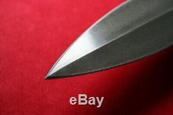 Cas Conjaerts Dagger Stag Couteau Noir Bois Frère Claudio Sobral Nouveau