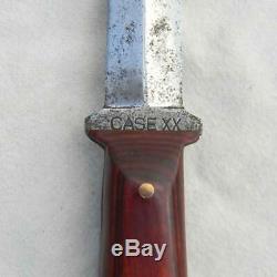 Cas XX Porc Autocollant Ww2 Couteau Poignard À Double Bord Combat, Gaine Orig Type Rare