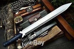 Cfk Ipak Main D2 Personnalisée 25 Viking-maximus Prêts Au Combat Dagger Épée Couteau