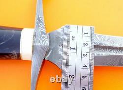 Chasse Acier Sur Mesure Damas Couteau Épée Arkansas Toothpick Dagger Nouveau Mi-39