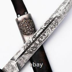 Couteau Cosaque Plastun Dagger 1891 Couteau Zlatoust Sword Shashka Épée Russe