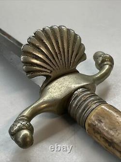 Couteau D'épée Courte Solingen Black Forest Vintage Avec Gaine En Cuir Mint