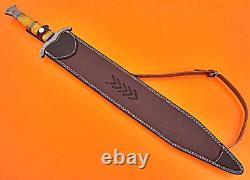 Couteau D'épée Damas Fabriqué À La Main Sur Mesure En Acier De Chasse À Damas Couteau D'épée Dague 1721