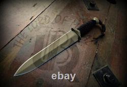 Couteau De Chasse En Acier À Outils D2 Personnalisé Ubr Avec Poignée Micarta