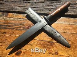 Couteau De Combat Antique Ww1 Autriche-hongrie, Poignard Vintage Trench
