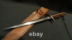 Couteau De Combat Stiletto De La Seconde Guerre Mondiale. 6 3/4 D/e Dagger Blade. I. D. Fait Au Théâtre