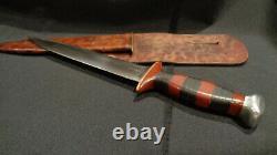 Couteau De Combat Stiletto De La Seconde Guerre Mondiale. Grande Lame De Poignard De 8 D/e. Fait De Théâtre