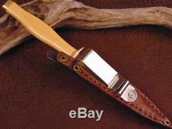 Couteau Immaculée Vintage Poignard Et Boot Fourreau Par Barry Dawson Grande USA Maker