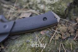Couteau Personnalisé De Survie Fait Main Hundur G10 O2 Lkw
