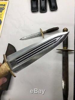 Couteau Poignard Orné Médiéval Court Vtg Antique Épée Lot De 4