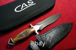 Couteaux Cas Custom Dagger Stag Knife Dark Timber Brother Claudio Sobral Nouveau