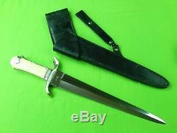 Coutume Fait Main Hale Grand Stiletto Fighting Couteau Dague Et Gaine