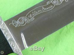 Coutume Fait Main Harvey Otis Mcburnette Fighting Couteau De Chasse & Dagger Fourreau