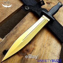 Cs Go Gold Fixe Lame Huntsman Dague Couteau De Chasse Bowie Survie Tactique Nouveau