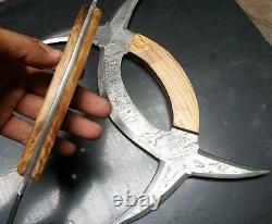 Custom Crafted Hand Made Sharp Deer Horn Knife Paire (version Damas)