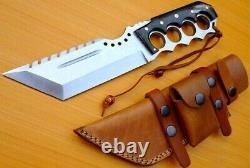 Custom D2 Steel Hunting Tracker Couteau Bowie Dagger Sword Tanto Damascus Mi-31